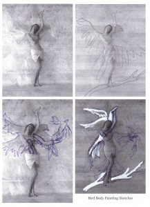 laura hollick bird painting preliminary photograph sketches